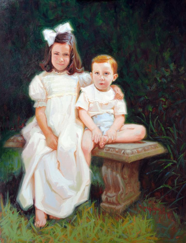 """Mary Kate and Sutton"" original fine art by Cecile W. Morgan"