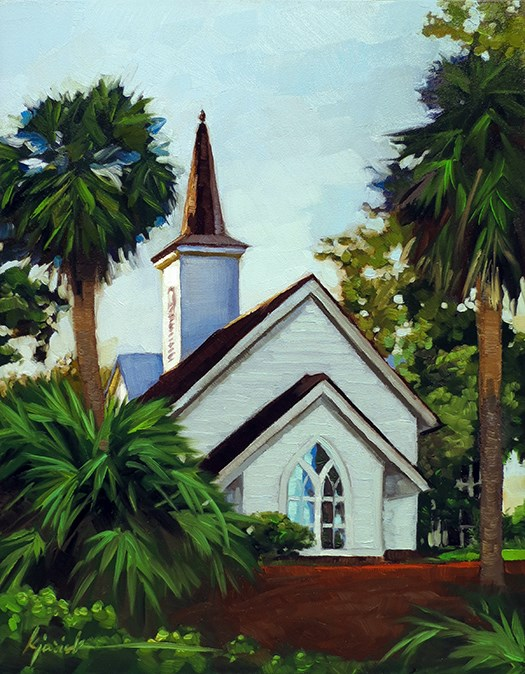 """The Chapel at Palmetto Bluff"" original fine art by Karin Jurick"