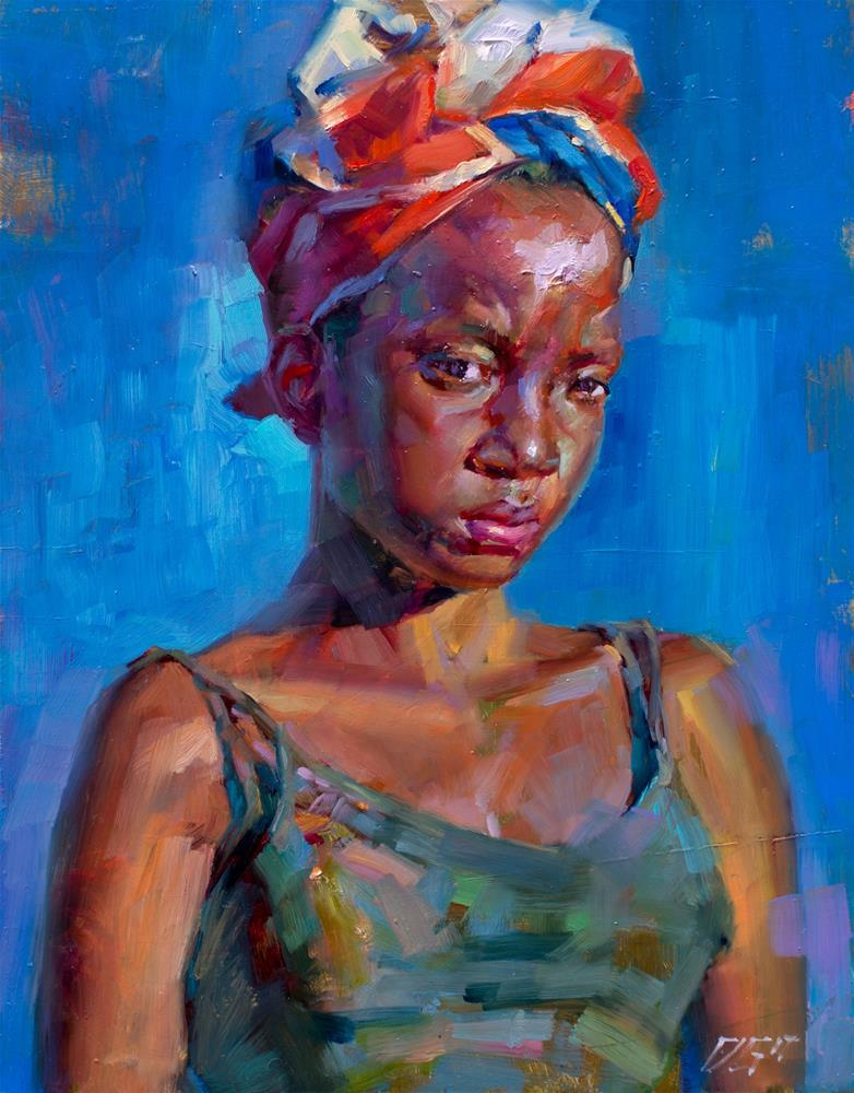"""Portrait No. 4"" original fine art by Dimitriy Gritsenko"