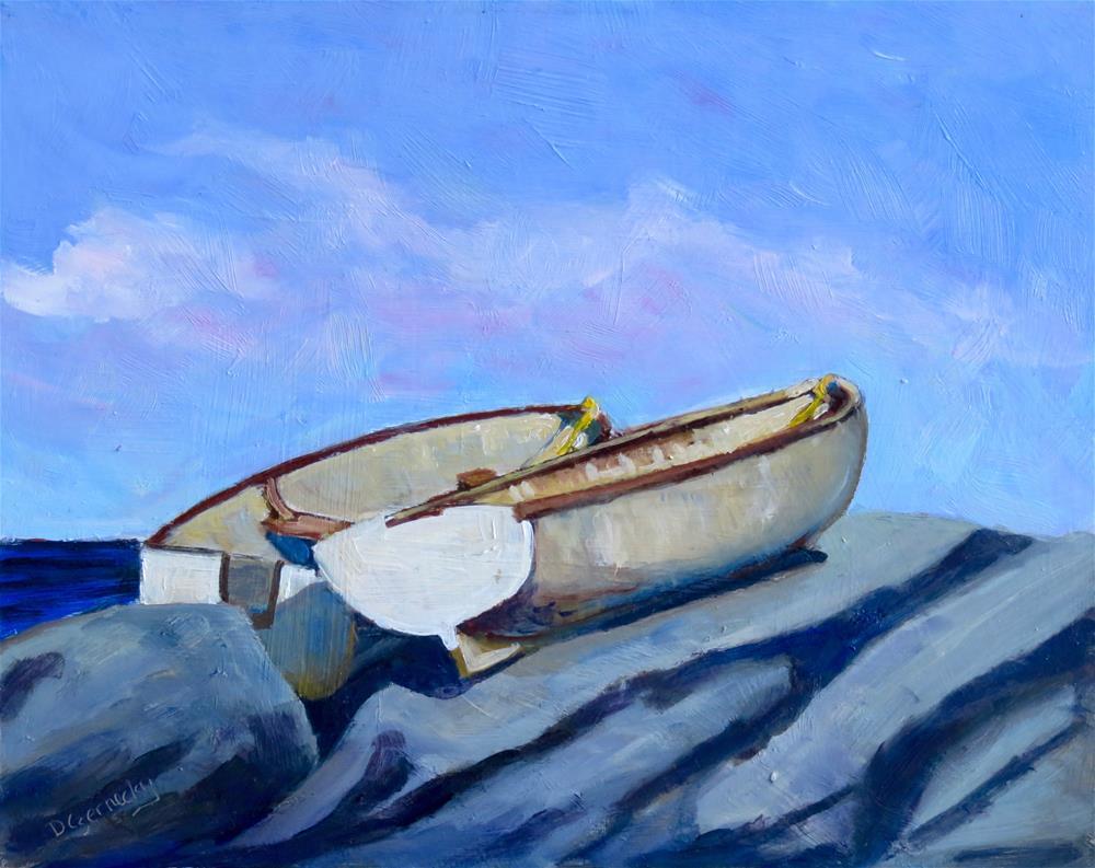 """BEACHED"" original fine art by Deborah Czernecky"