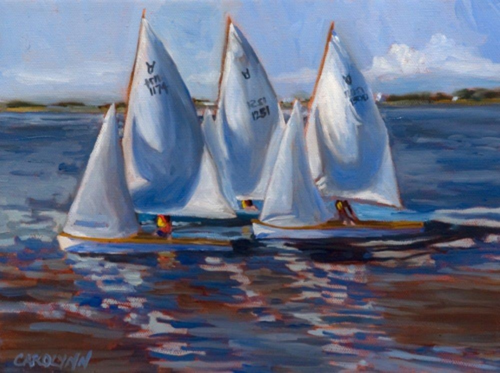 """Sailing Mud Bay"" original fine art by Carolynn Doan"