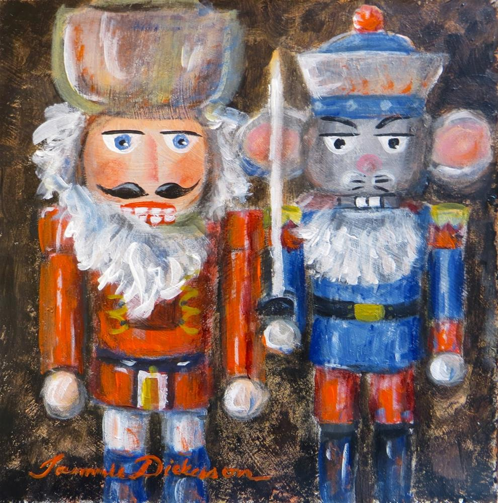 """Clara's Nutcracker Hero & the Mouse King"" original fine art by Tammie Dickerson"