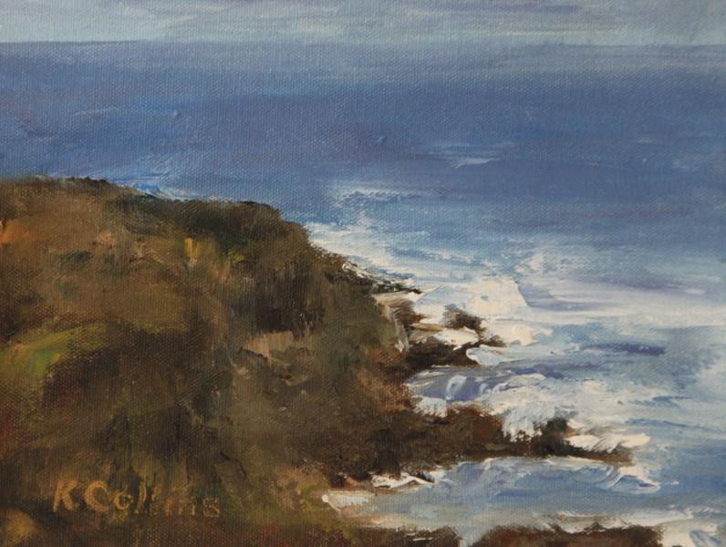 """Coastal Rocks"" original fine art by Kathy Collins"