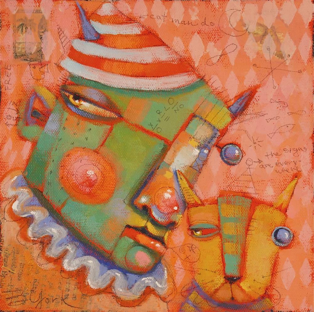 """Cat-Man-Do"" original fine art by Brenda York"