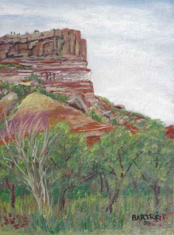 """Palo Duro Canyon"" original fine art by Janice Bartke Thompson"