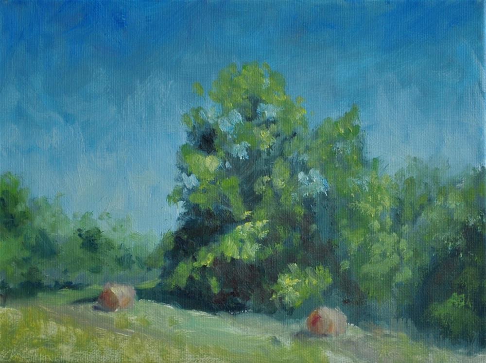 """Plein Air, Hailey Ridge Road, Kentucky"" original fine art by Kim Vanlandingham"