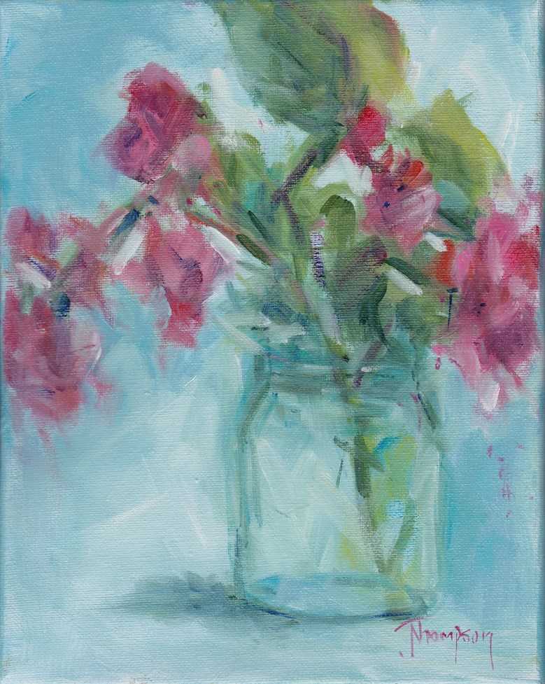 """Begonia 2"" original fine art by Norma Thompson"