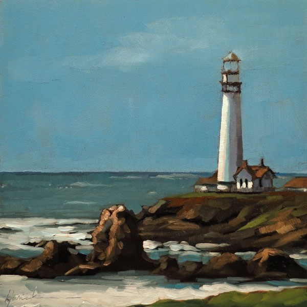 """Pigeon Point"" original fine art by Karin Jurick"
