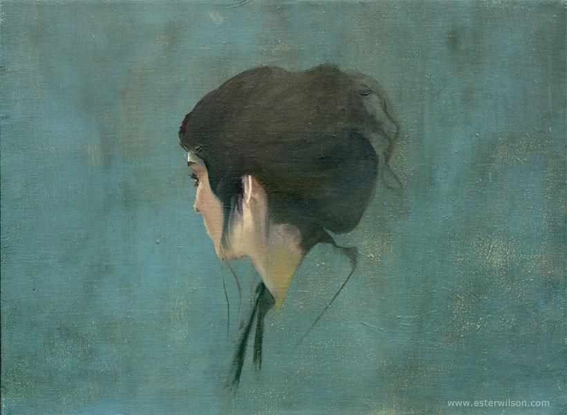 """Look Back"" original fine art by Ester Wilson"