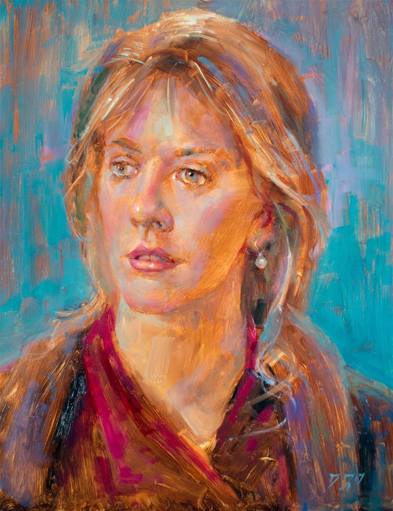 """Girl With A Pearl Earring No. 2"" original fine art by Dimitriy Gritsenko"
