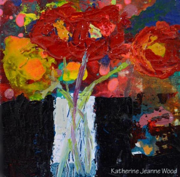 """Flower Series No 63"" original fine art by Katie Jeanne Wood"