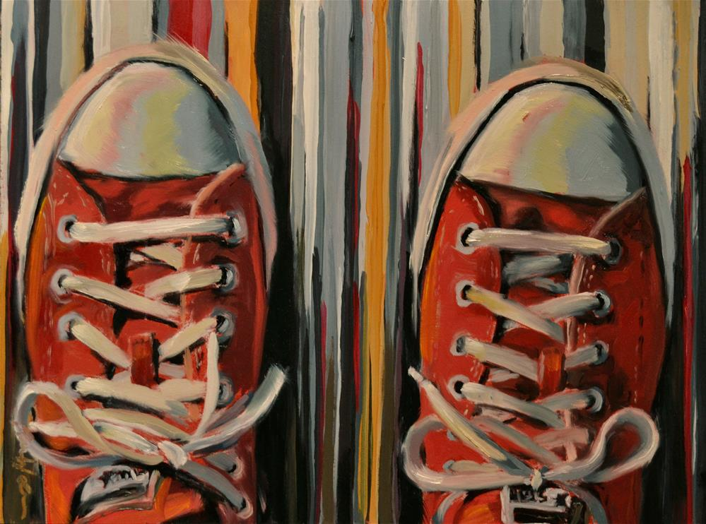 """Red Chucks"" original fine art by Karen Weber"