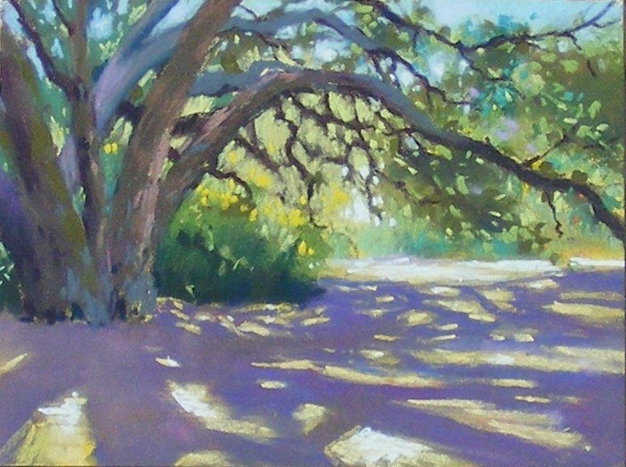 """Eaton canyon shadow"" original fine art by Celine K.  Yong"