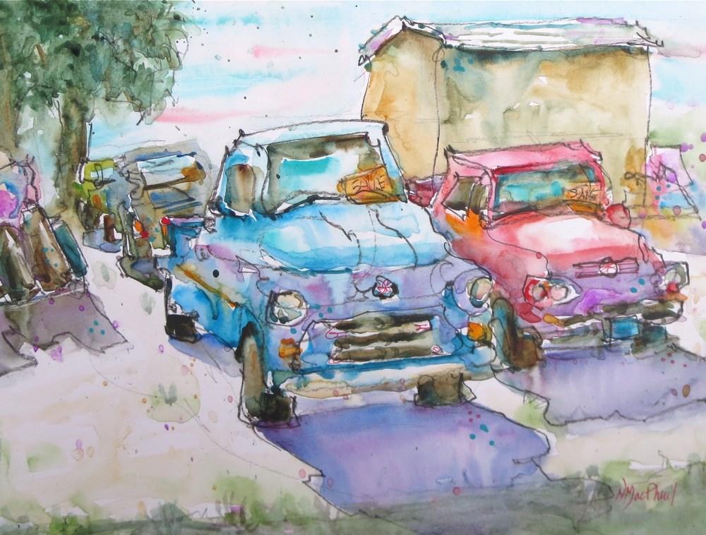 """old friends"" original fine art by Nora MacPhail"