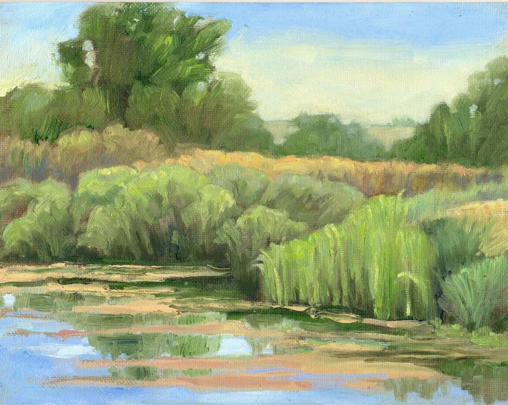 """Pond's Edge"" original fine art by Kath Reilly"
