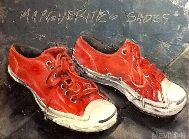 """Margurite's Shoes"" original fine art by Nancy Levinson"