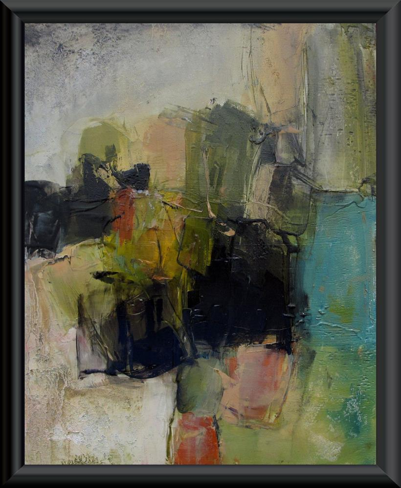 """THE FLORIDA KEYS Original ABSTRACT LANDSCAPE 8X10 Art Painting OIL"" original fine art by Colette Davis"