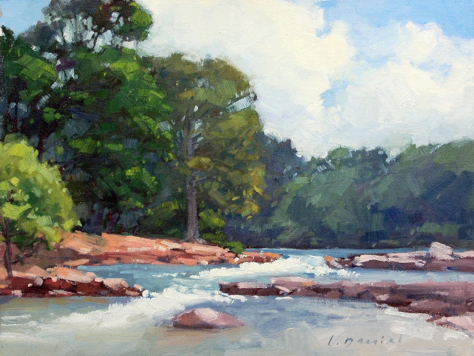 """Rio Vista Rapids"" original fine art by Laurel Daniel"
