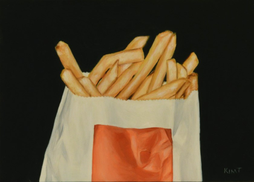 """Small Fries"" original fine art by Kim Testone"