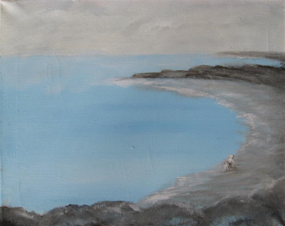 """Blue Water"" original fine art by Alina Frent"