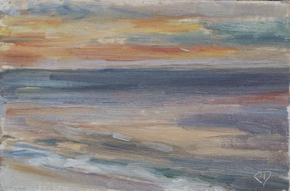 """Beach Sunrise, Destin Florida, Original oil by Carol DeMumbrum"" original fine art by Carol DeMumbrum"