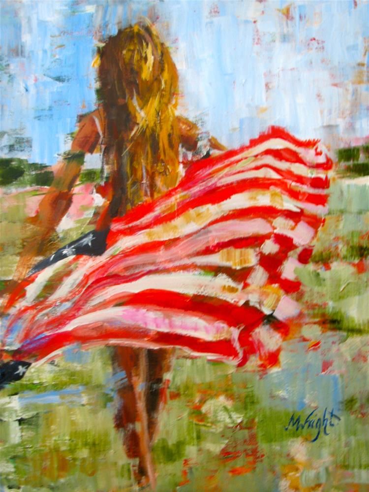 """Freedom's Charge"" original fine art by Molly Wright"