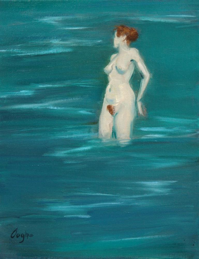 """Standing in the Shallows"" original fine art by Angela Ooghe"