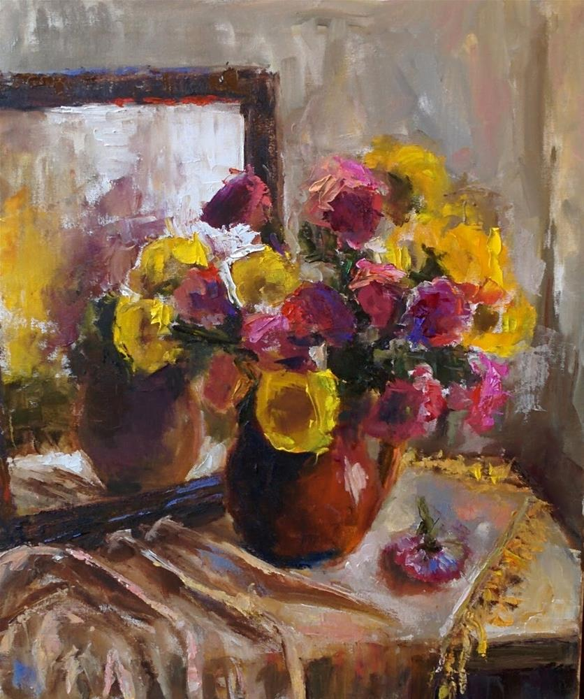 """Still Life with Mirror"" original fine art by pepa sand"