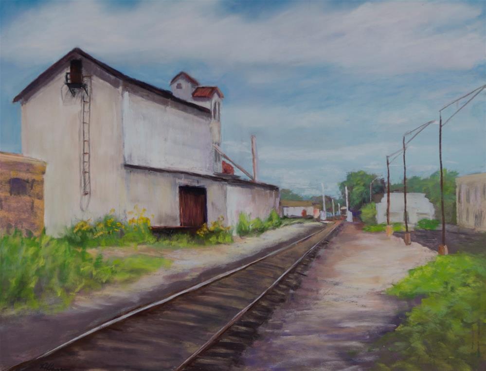 """""""Next Stop: Feed and Grain"""" original fine art by Nelia Harper"""