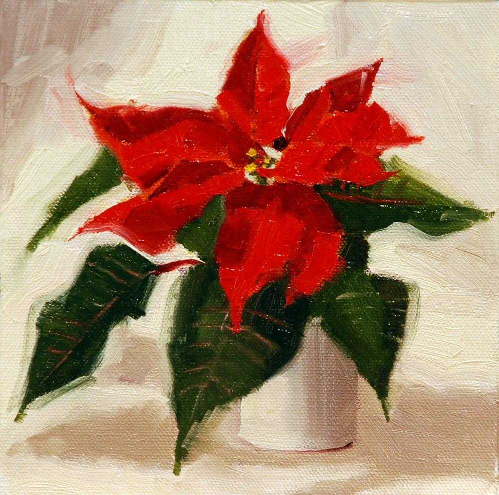 """Poinsettia #1"" original fine art by Susan McManamen"