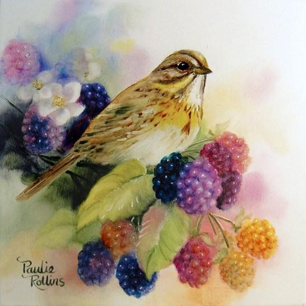 """Blackberry Rainbows"" original fine art by Paulie Rollins"