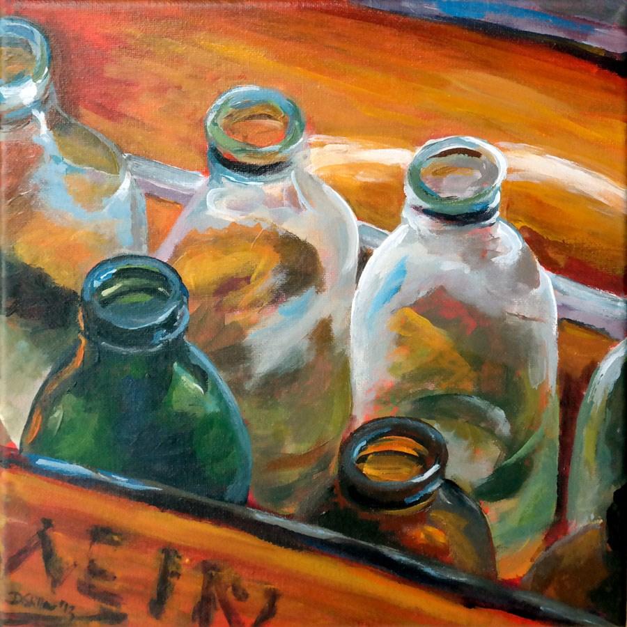 """0785 Bottle empty"" original fine art by Dietmar Stiller"