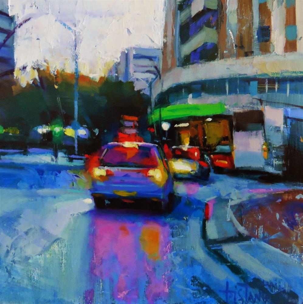 """Turn right"" original fine art by Víctor Tristante"