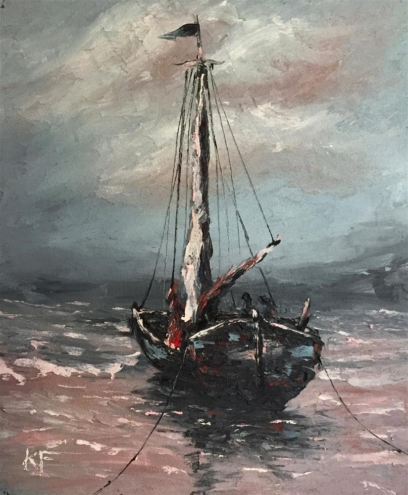 """Low Tide"" original fine art by Ken Fraser"