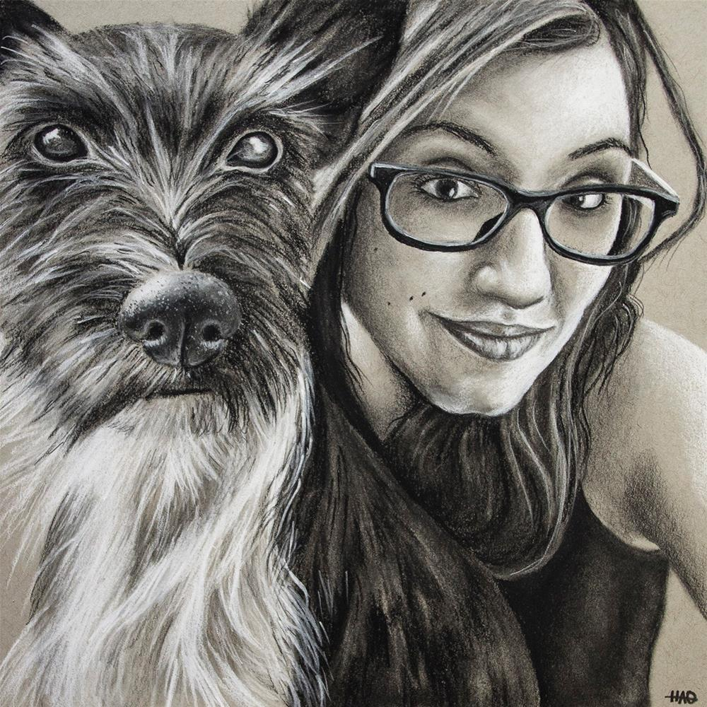 """Mel & Brodie"" original fine art by Heather Orlando"