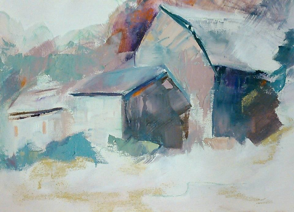 """Towards the Barn"" original fine art by Ann Rudd"