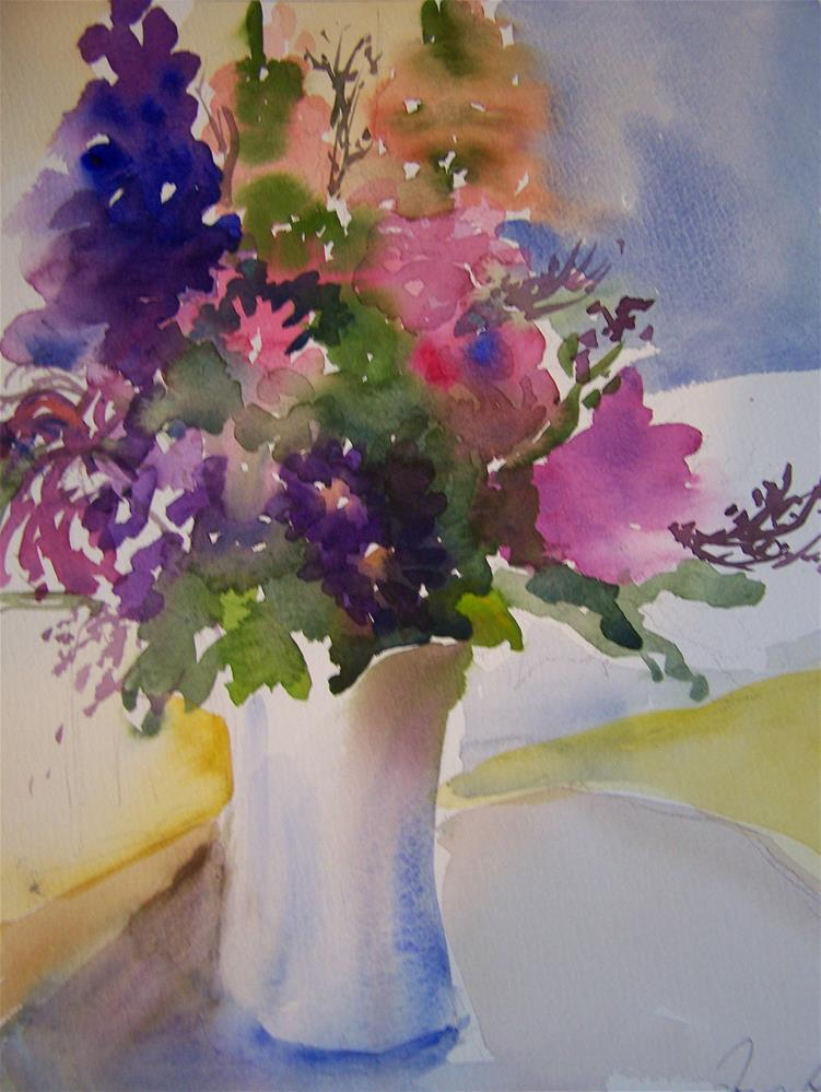 """60th Bouquet"" original fine art by Joan Reive"