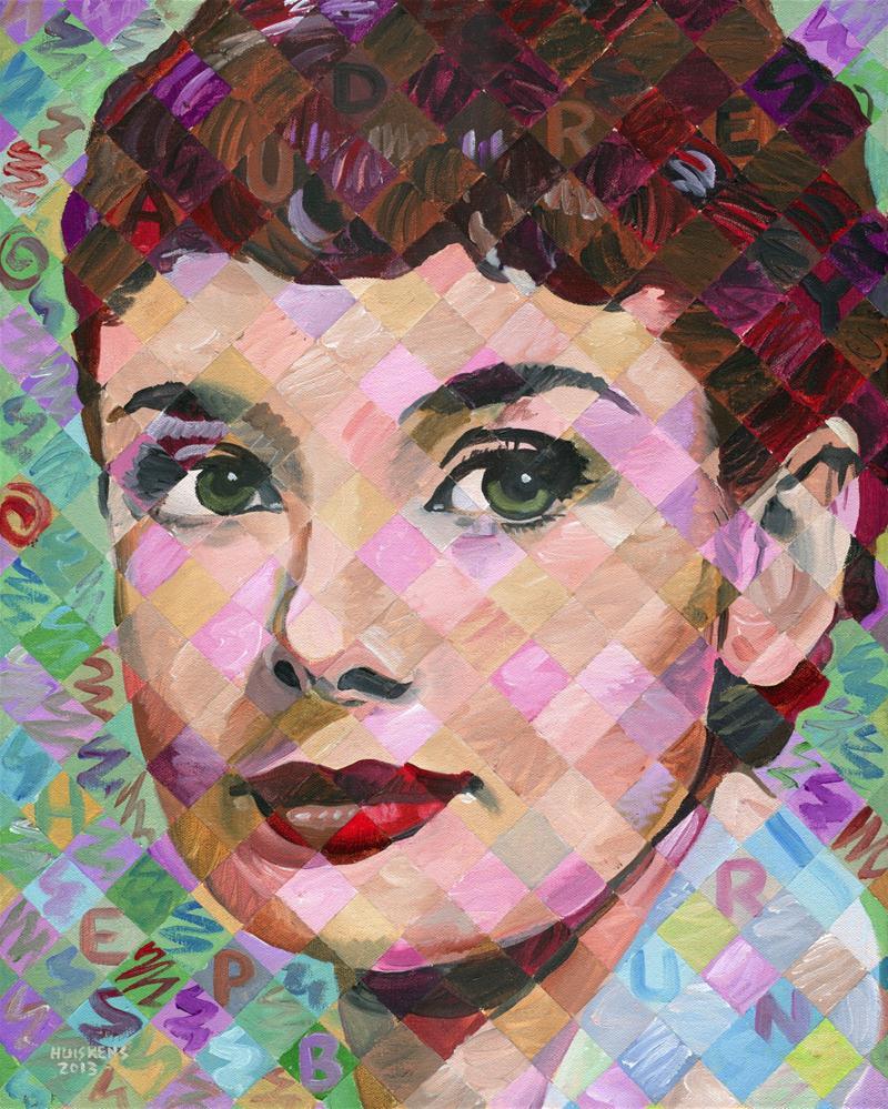 """Audrey Hepburn #3"" original fine art by Randal Huiskens"