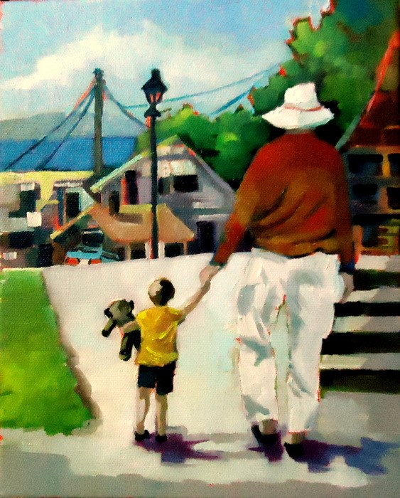 """Grandpa"" original fine art by Laurie Mueller"