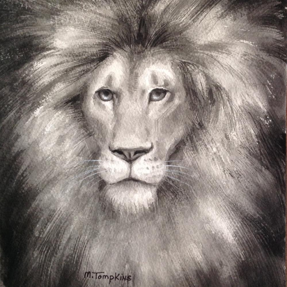 """King"" original fine art by Mark Tompkins"