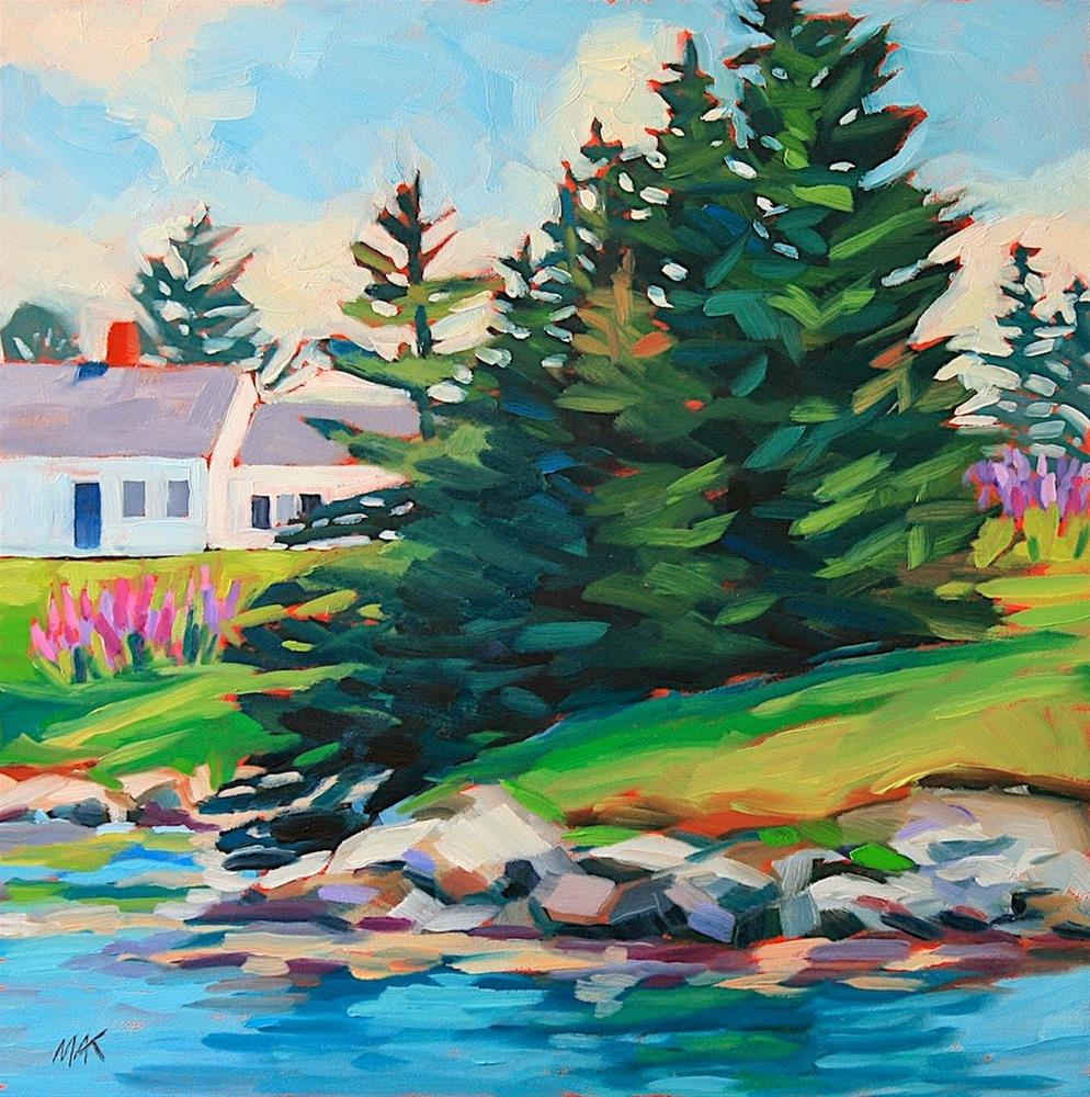 """House by the Sea"" original fine art by Mary Anne Cary"
