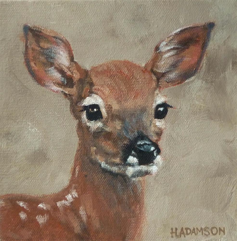 """Whitetail Fawn"" original fine art by Helene Adamson"