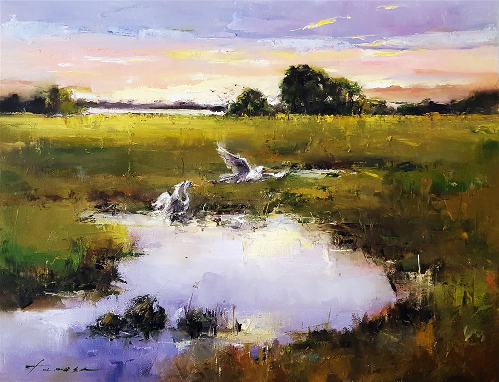 """marsh02"" original fine art by Teresa Yoo"