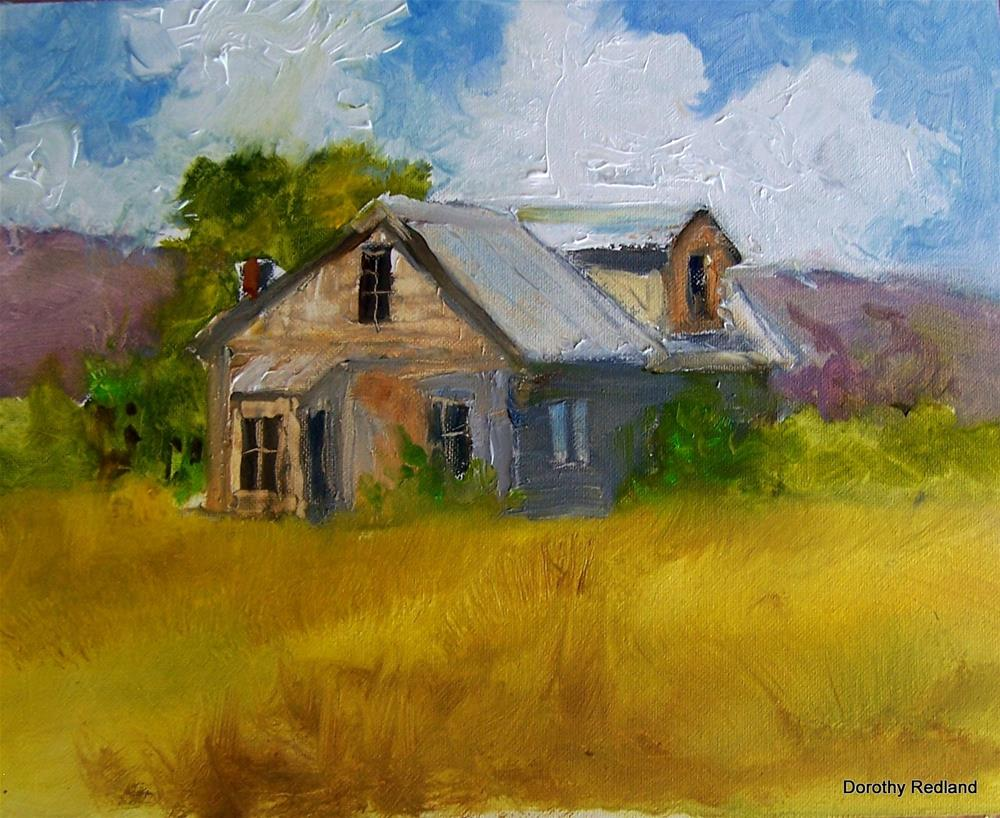 """Ranchhouse, New Mexico"" original fine art by Dorothy Redland"