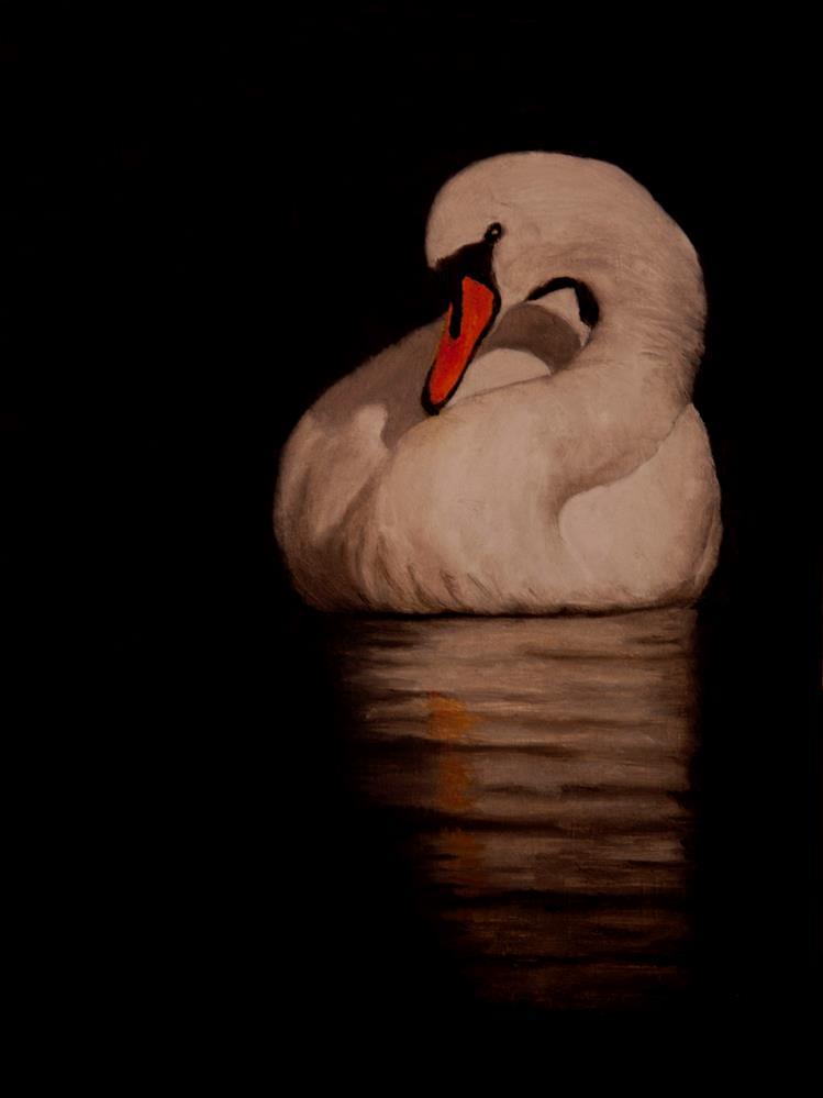 """""""Unruffled"""" original fine art by Linda Mann"""