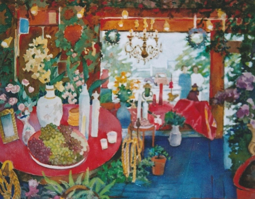"""flower shop"" original fine art by meribeth coyne"
