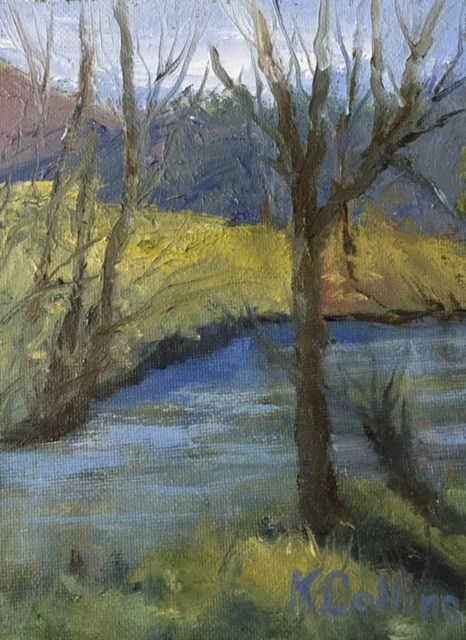 """Down by the Riverside"" original fine art by Kathy Collins"