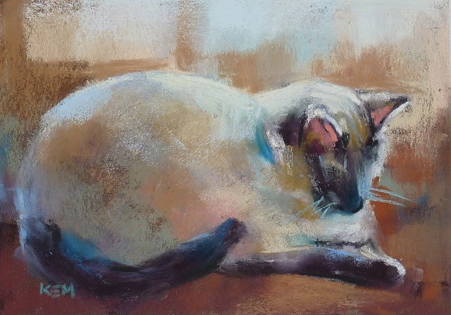 """Introducing My First Pastel Lesson Download....How to Paint Animals"" original fine art by Karen Margulis"