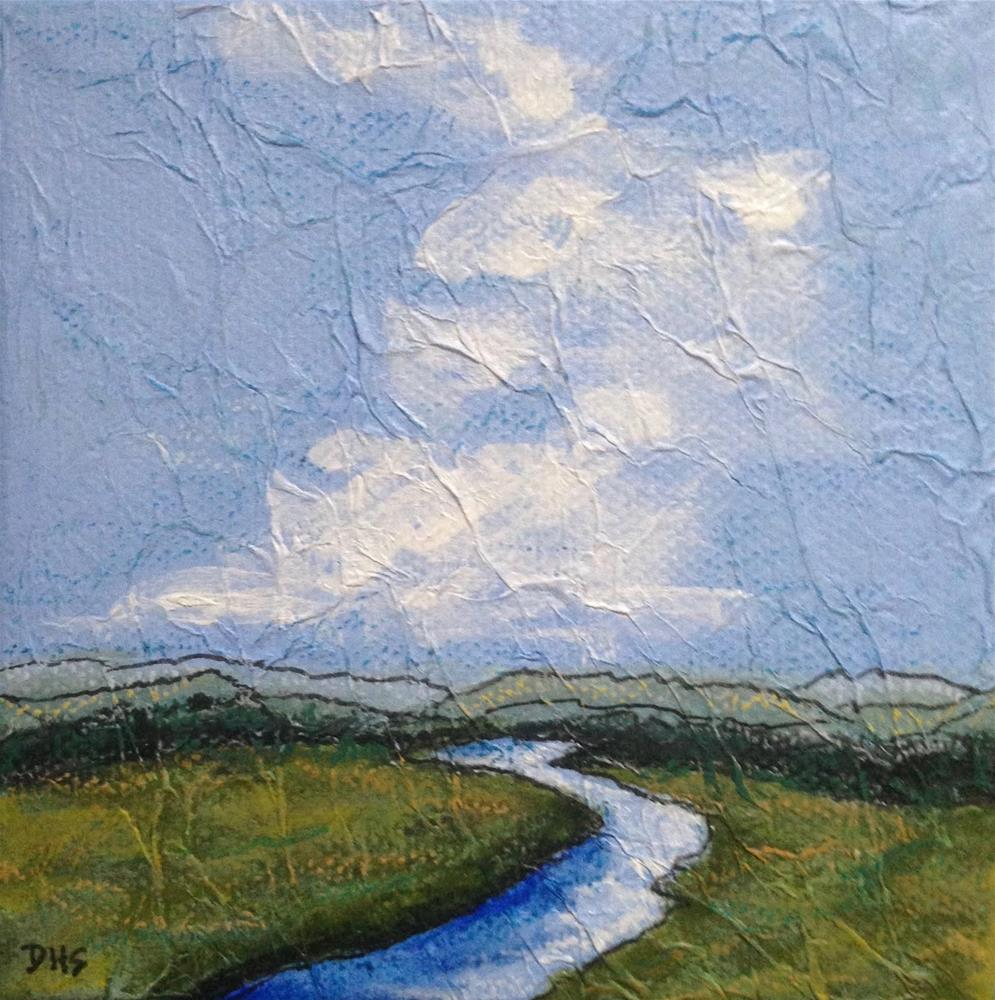 """Adroscoggin Sky"" original fine art by Dotty  Seiter"