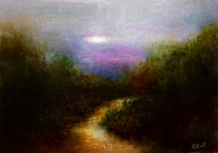 """Secluded Path"" original fine art by Bob Kimball"